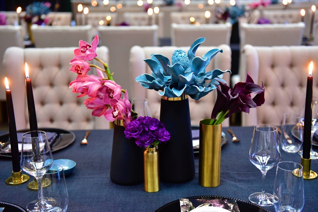 Moody hues - Decorative Events Centrepiece