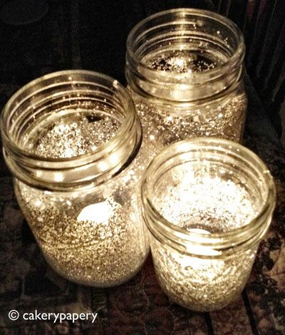 masion jars lighting