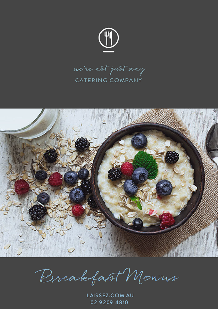Laissez faire catering sydney breakfast menu