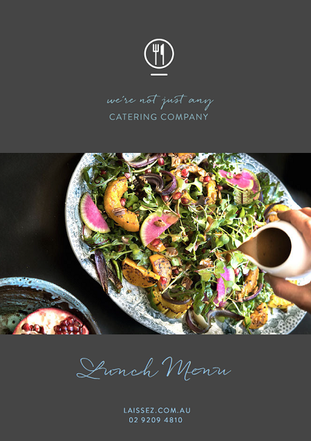 Laissez faire catering sydney working lunch menu