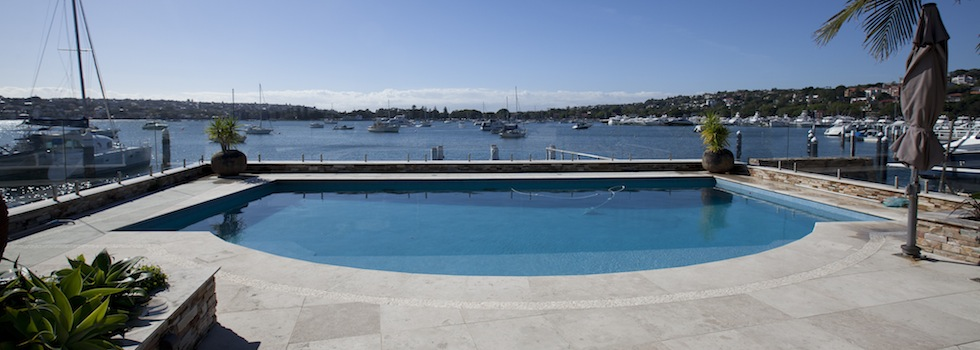 Private Home Point Piper Pool deck