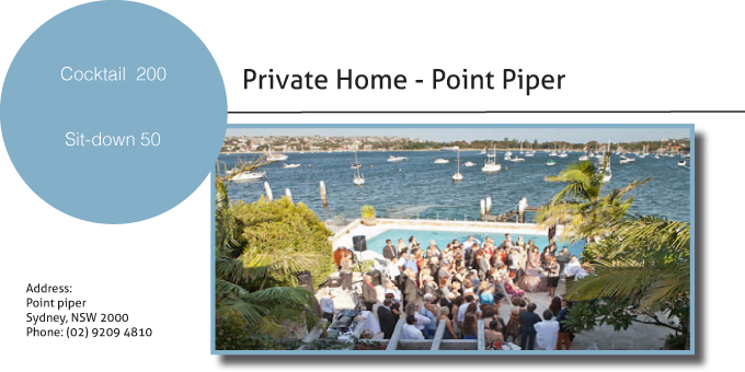 Point Piper House card