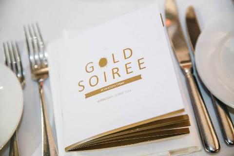 Gold soiree dinner